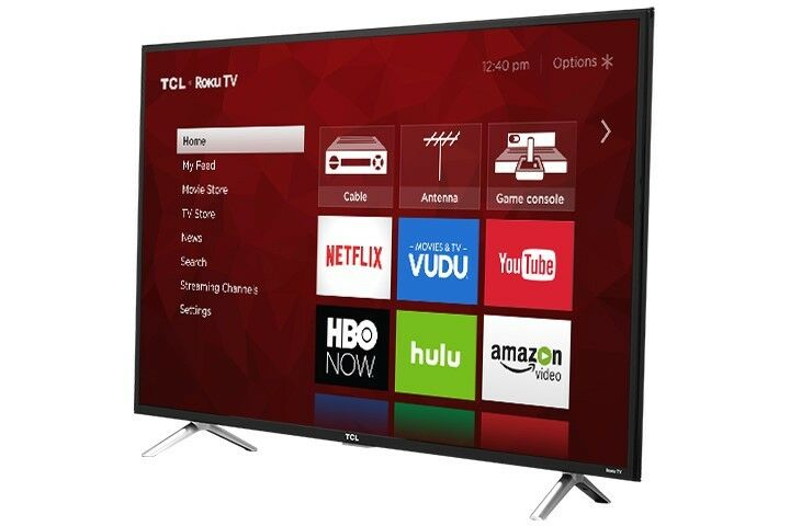 TCL 49 4K Ultra HD 120Hz HDR Roku Smart TV 2017 Model with 3 x HDMI | 49S405