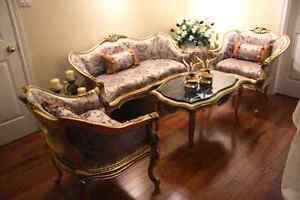 4 beautiful fancy carve piece furniture set