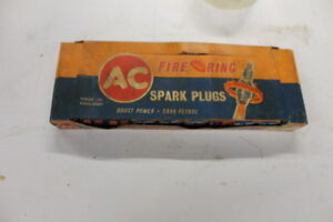 fire ring  ac delco spark plugs  vintage