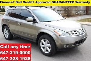 2004 Nissan Murano SE FINANCE 100% APPROVED GUARANTEED WARRANTY
