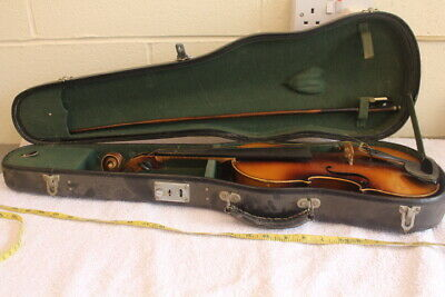 Job lot of antique violins - including a copy of an antonius stradivarius violin