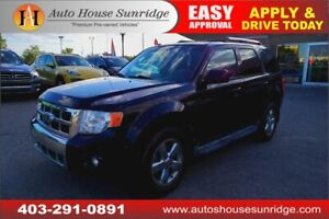 2011 FORD ESCAPE LIMITED V6 NAVI BACKUP CAM HEATED LEATHER SEATS