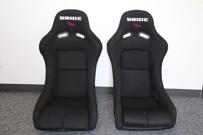 BRIDE VIOS BLACK CLOTH FRP RACING SEAT HONDA MIATA PAIR ZIEG GIAS ZETA CUGA -