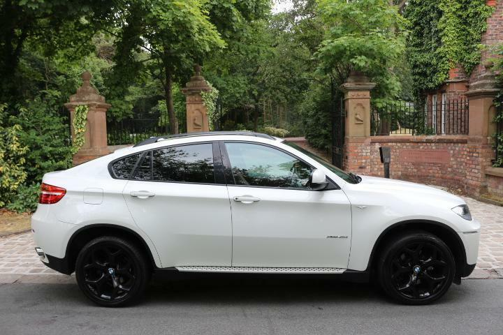 63 Plate Bmw X6 40d Xdrive 1 Own Fbmwsh White Black Pack Red Leather