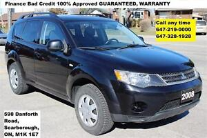 2008 Mitsubishi Outlander ES AUTO 4WD MINT FINANCE 100% APPROVED