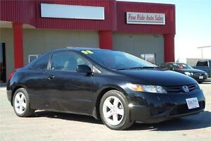 2008 Honda Civic LX-SR Coupe **ONLY 124,000kms!**