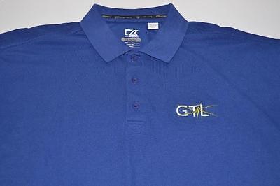 Cutter Buck Golf Gtl Global Tel Link Blue Polo Shirt Mens Size Xl