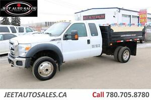 2011 Ford F-450 XLT 4X4 Extended Cab DUMP TRUCK 6.8L V10 Gas