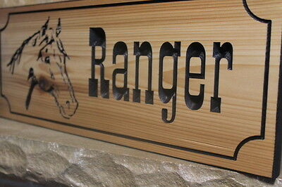 Personalized Horse Stall Name Plates Custom Sign Cedar Rustic Stable Barn Signs