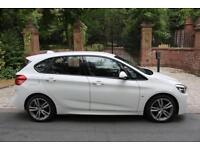 15 PLATE BMW 216 DIESEL M SPORT ACTIVE TOURER 43,738 MILES WHITE LEATHER 1 OWNER