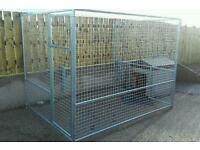 BEST QUALITY Galvanised Dog Runs , kennels cages box house bed