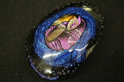 1998 Signed RANDY STRONG Studio Art Glass Paperweight For Neiman Marcus