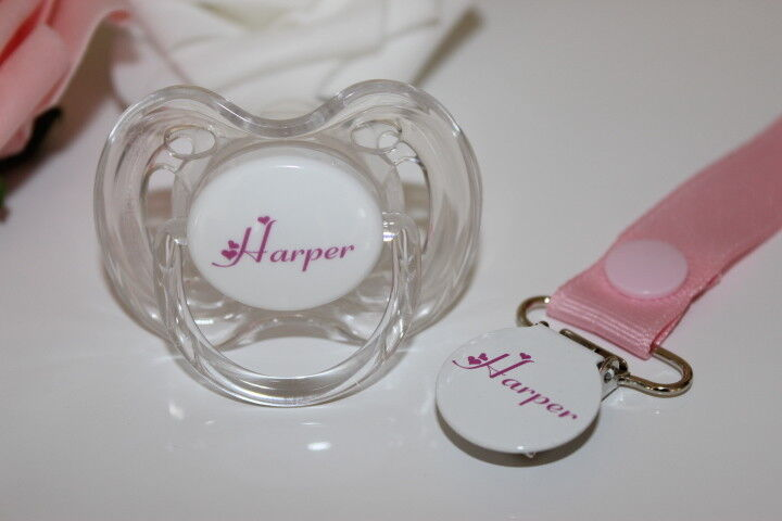 personalized pacifier pacifier and clip can be