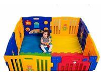 Plastic Baby Playpen with Activity Panel - £50 ono