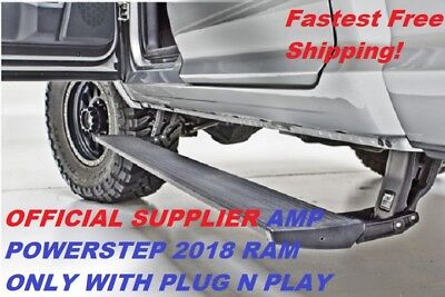 2018 ONLY Ram 1500 2500 3500 AMP Powerstep Step Running Board + Plug & Play Kit ()