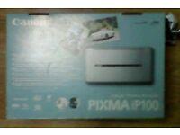 Canon PIXMA iP100 Inkjet Photo Printer!(like new).