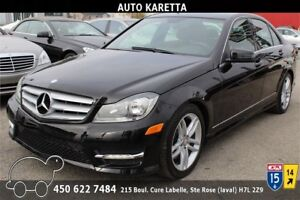 2013 MERCEDES-BENZ C300 4MATIC/AWD, TOIT OUVRANT,BLUETOOTH,MAGS