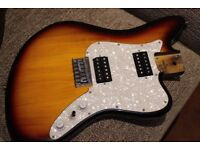 Fender styled and Pronounced OFFSET Blues Guitar, LOADED BODY ONLY - Stop Tail Bridge