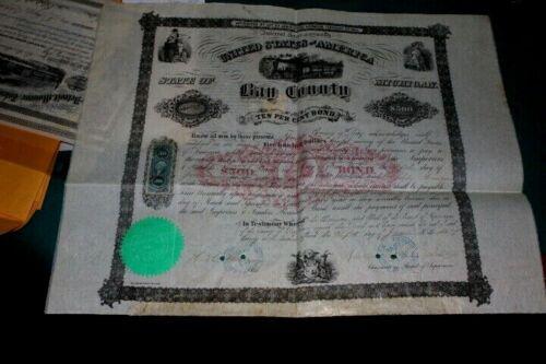 #J202,Scarce Michigan,Beautiful Bond,1864,Two Revenues Bay City,East Saginaw