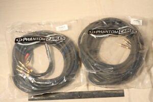 25ft Premium Phantom Cables Banana Clip Bi-Wire Speaker Cable