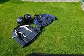Jackets, helmets
