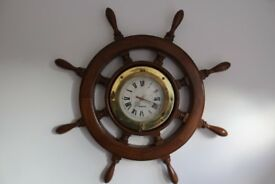 Nice Boat Ship Wheel Wood Wall Clock