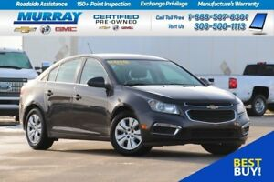 2015 Chevrolet Cruze LT FWD*REMOTE START,HEATED MIRRORS,REAR CAM