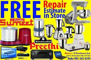> KitchenAid, Sumeet, Preethi, Any Model Mixer, Free Estimate