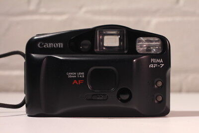 **** Canon PRIMA AF-7 ~ Point and Shoot 35mm Film Camera ~ BLACK  ****