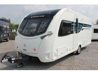2014 Sterling Continental 580 4 Berth Caravan Fixed Transverse Bed
