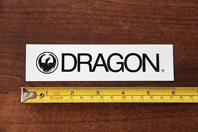 DRAGON Goggles Sunglasses STICKER Decal New White (White Dragon Sunglasses)