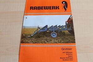 144595) Rabewerk Grubber mit Schleppe - Krümler - Prospekt 06/1977