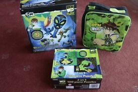 Ben 10 Toys - Blast N' Launch Air Rocket, 2 x 100 piece Jigsaws, Bag, Toys, Torch, mini viewer.