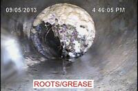 Sewer lateral camera inspection.
