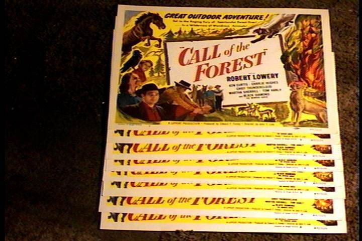 CALL OF THE FOREST 1949  11X14 LOBBY CARD SET