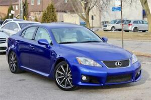 2008 Lexus ISF - Accident Free - One Owner - Low KM - Certified