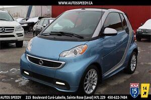 2013 SMART FORTWO PASSION CONVERTIBLE/GARANTIE/CLEAN CARPROOF