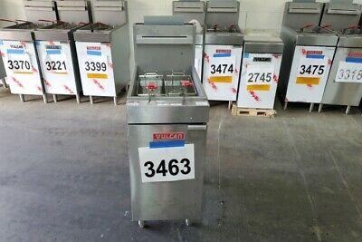 3463 - New Sd Vulcan 35-40 Lbs Capacity Deep Fryer Natural Gas Modellg300-1