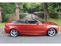 58 PLATE BMW 125i M SPORT CONVERTIBLE AUTO SIENNA RED A RARE FIND STUNNING