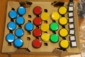 Suzo-Happ Arcade Style Colourful Push Button Collection