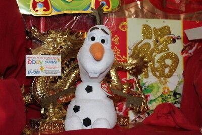 "TY OLAF~DISNEY'S MOVIE FROZEN~THE SNOWMAN BEANIE BUDDY-10""-MWNMT-2014-NICE GIFT"