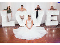 """** FOR HIRE** Giant light up """"LOVE"""" letters"""