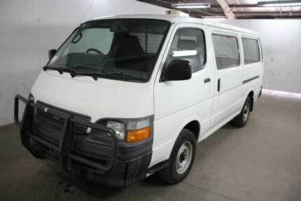 2004 TOYOTA HIACE (LWB) PETROL AUTOMATIC VAN (WITH WINDOWS)