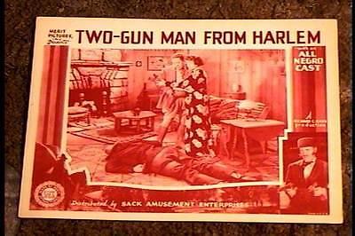 TWO GUN MAN FROM HARLEM 1938 LOBBY CARD #2 ALL BLACK CAST