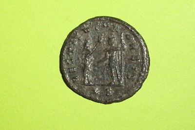 AURELIAN 270 AD-275 AD ancient ROMAN COIN presentation scene Orbis wreath old ae