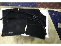 Peugeot front wind deflectors and full set of car mats