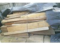 Wooden planks and boards