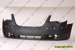 Bumper Front Primed With Washer Hole & Moulding Hole Chrysler Town & Country 2008-2010