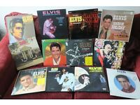 ELVIS PRESLEY COLLECTION OF 25 VINYL LP`s + SINGLES VG+ EXCELLENT CONDITION