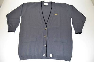 Hertz Car Rental Service Gray Cardigan Sweater Mens Size Medium M